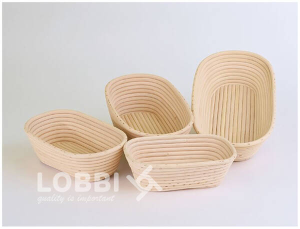 Wood rattan shape for rising bread - oval 250 g