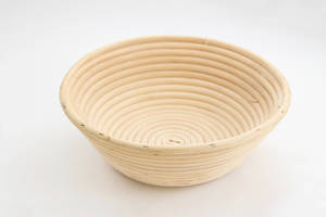 Wooden rattan shape - round for rising bread